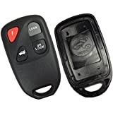 Discount Keyless Replacement 4 Button Case and Button Pad Compatible with Mazda Remotes KPU41805 KPU41777 KPU41701