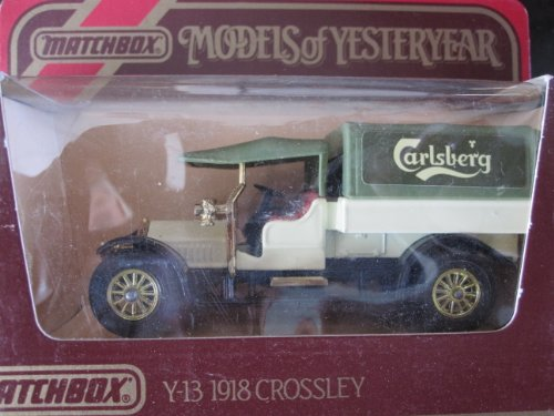 1918 Crossley (green/white) Carlsberg logo Matchbox Model of Yesteryear Y-13-c Issued 1974 - 1