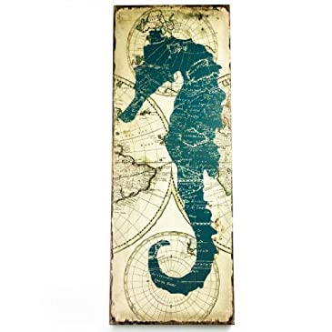 Nautical Seahorse Wall Decor : Coastal