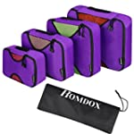 Homdox 4 Piece Set Packing Cubes with...