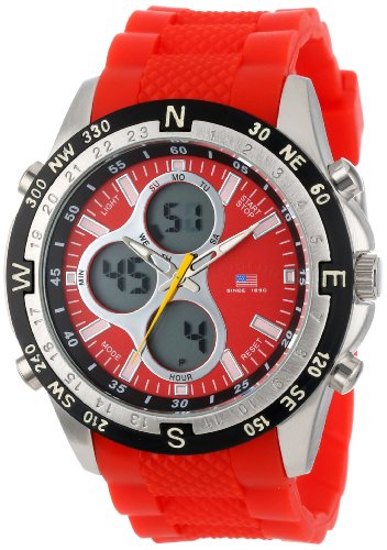 U.S. Polo Assn. Sport Men's US9136  Red Silicone