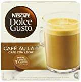 Nescafé Dolce Gusto Café Au Lait (Pack of 3, Total 48 Capsules/Coffee Pods)