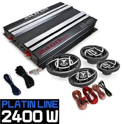 4.0 Car Hifi Set Platin Line 440 Verstärker Box von Auna auf Reifen Onlineshop