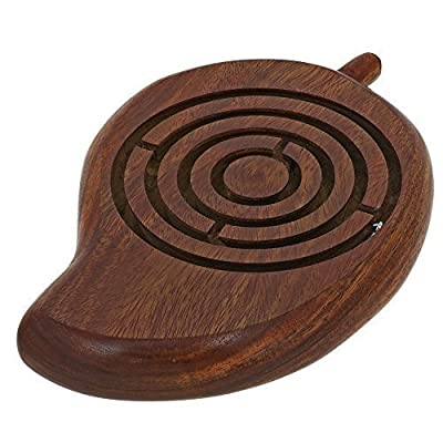 Handcrafted Mango Wooden Ball in Maze Puzzle - Unique Gifts for Kids - Travel Games for Children