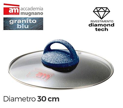 Coperchio in vetro 30cm Accademia Mugnano linea Granito Blu Diamond Tech. MWS