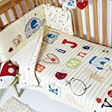 Clair de Lune ABC 2 Piece Cot Bed Quilt & Bumper Bedding Set, Neutral