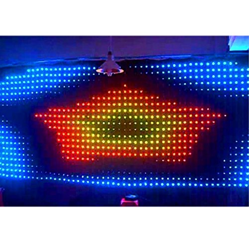 5 Mtr X 2 Mtr P9 Matrix Led Rgb Dj Party Garden Star Video Curtain Backdrop For Home Garden Birthday Party Christmas Xmas Disco Club Stage Effect