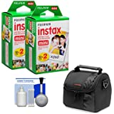 Essentials Bundle for Polaroid PIC300 Series Instant Film Analog Cameras with 40 Instant Film Prints + Case + Cleaning Kit