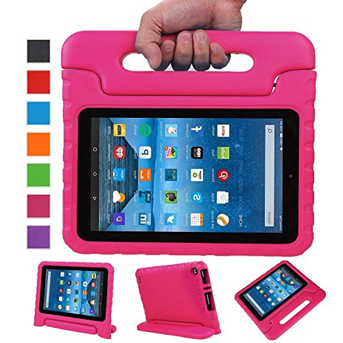 Fire 7 case,Fire 7 kids Case,Angel Center - Kids Shock Proof Convertible Handle Stand Light Weight Super Protective Stand Cover for Amazon Fire Tablet (7 inch Display, 2015 Release Only) (Pink) (Center Of The Fire compare prices)