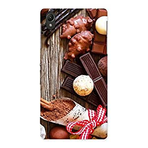 Premium Chocolate Candies Multicolor Back Case Cover for Sony Xperia Z2