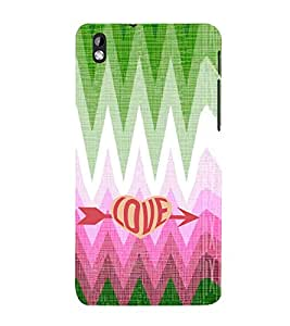 EPICCASE love arrow Mobile Back Case Cover For HTC Desire 816 (Designer Case)