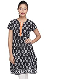 Pink Almirah Women Black Kurta available at Amazon for Rs.219