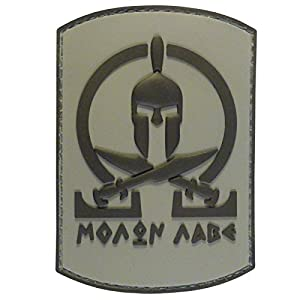 ACU Subdued Spartan Molon Labe Shield Warrior Morale Tactical PVC Gomme 3D Velcro Écusson Patch