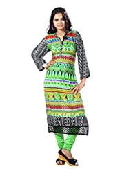 Arista Designer Ready To Wear Green Kurti Size - 36 (KR95)