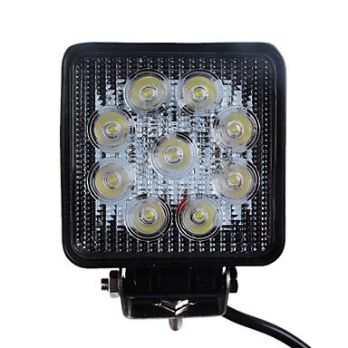 Zcl27W 1680Lm 6000K Square Car Led Work Light Waterproof Flood Beam Lamp For Suv Truck 4Ws (Dc9-32V)