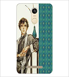 PrintDhaba Sitting Boy D-4751 Back Case Cover for XIAOMI REDMI NOTE 3 (Multi-Coloured)