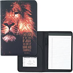Portfolio with Notepad - The Lion of the Tribe