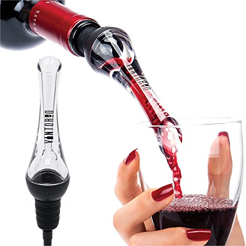 Vintorio Wine Aerator Pourer - Premium Aerating Pourer and Decanter Spout (Black) (Wine Diffuser compare prices)