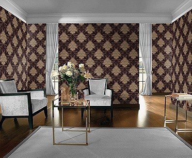 lounge barock rasch tapete bestseller 156645 gold braun tapeten reste. Black Bedroom Furniture Sets. Home Design Ideas