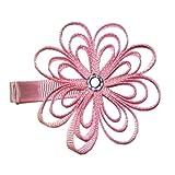 A Girl Company Pink Ribbon Flower Hair Clip