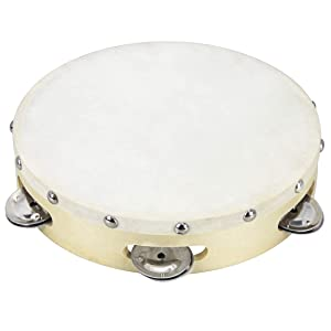 Clifton 8 inch Tambourine Drum Bell Single Row Metal Jingles Percussion Toy Instrument