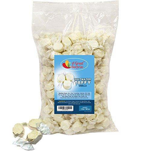 Salt Water Taffy Gourmet Vanilla Flavor, 3 LB Bulk Candy (Salt Water Taffy Vanilla compare prices)