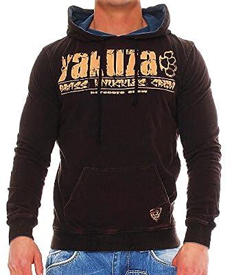 Yakuza Herren Wende Sweatshirt HOB532W, 2in1 Hoodie
