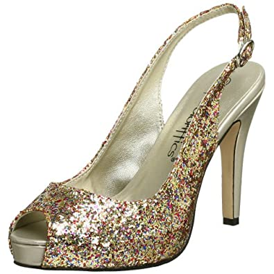 Coloriffics Women's Gala Pump,Gold Multi Glitter,5 M
