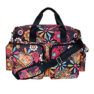 diaper bag bohemian floral deluxe duffle baby. Black Bedroom Furniture Sets. Home Design Ideas