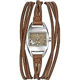 GO Girl Only - 697001 - Montre Femme - Quartz Analogique - Cadran Marron - Bracelet Cuir Marron
