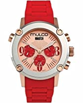 Mulco MW2-28049-063 Stainless Steel Chronograph MWATCH red band Watch