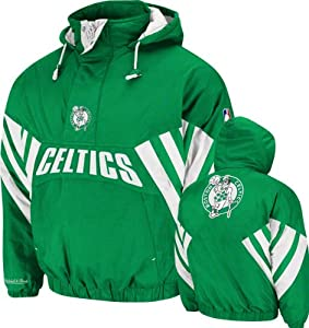 NBA Mitchell & Ness Boston Celtics Flashback Three-Quarter Zip Pullover Hoodie... by Mitchell & Ness