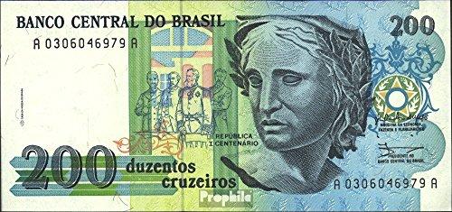 brésil Pick-no: 229 1990 200 Cruzeiros (billets de banque pour les collectionneurs)