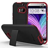 GreatShield Legacy Series Ultra Slim Fit Hybrid Kickstand Case for HTC One M8 (2014) - Retail Packaging (Black... by GreatShield