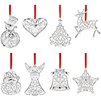 Lenox Sparkle & Scroll 8-piece Ornament Set