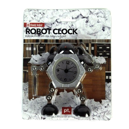 Present Time Robot Clock, Black