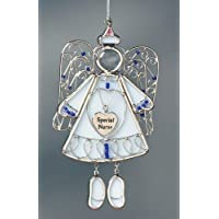 Angel Nurse Stained Glass Suncatcher