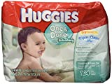 Kimberly Clark Huggies Naturally Refreshing Thick-N-Clean Baby Wipes, Cucumber and Green Tea, 184 count.