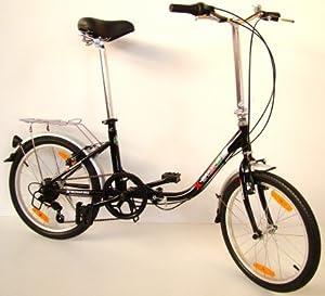 GermanXia - Bicicleta plegable ( 6 velocidades, 20