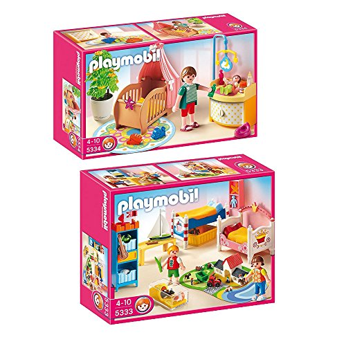 Playmobil Dollhouse Set Includes: Nursery Room And Boy And Girl Room front-934821