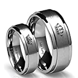 Blowin Her King/His Queen Ring Silver Stainless Steel Wedding Bands Engagement Promise Rings Anniversary Gifts