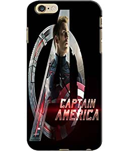 EU4IA Captain America Avengers Pattern MATTE FINISH 3D Back Cover Case For iP...