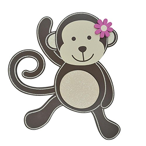 Koala Baby Girl Monkey Wall Decor , Wood - 1