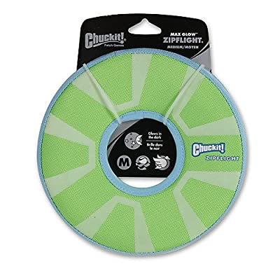 CHUCKIT Zipflight Max Glow Fetch Toy