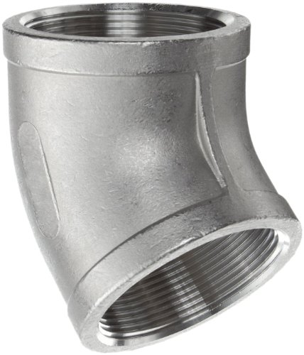 Stainless steel cast pipe fitting degree elbow