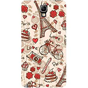 Casotec Vintage ParisDesign Hard Back Case Cover for Samsung Galaxy Note 3 Neo