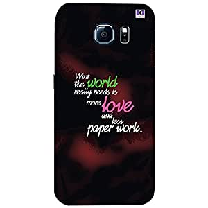 World Love - Mobile Back Case Cover For Samsung Galaxy S7 Edge