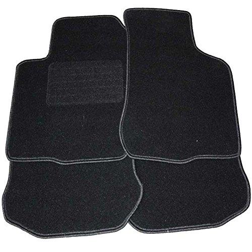 Fußmatten schwarz mit Absatzschutz für Mercedes W212 Limousine 4 türig 01.03.2009- E-Klasse W211 Halter nur FM