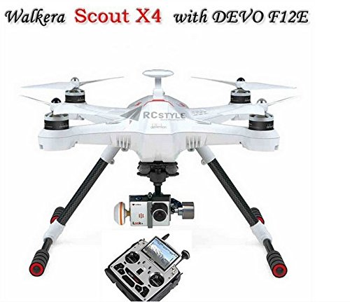 Xt-Xinte Walkera Scout X4 Gps Rc Quadcopter Devo F12E Ilook+ White Fpv2 Rtf Support Ground Station
