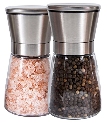 Q s inn salt and pepper grinder set lifetime warranty
